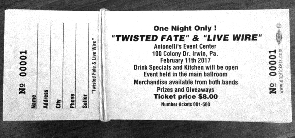 twisted fate live wire tickets